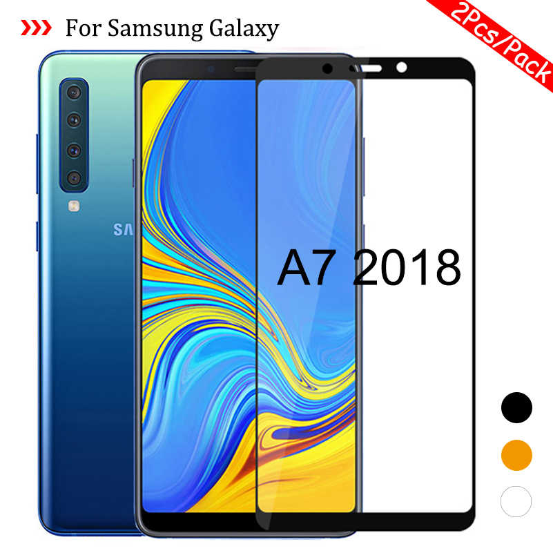 2Pcs/Pack for Samsung Galaxy A7 2018 A750 SM-A750F Protective Glass On the Samsun Glaxy A 7 2018 A72018 Cover Film A72018 Glas