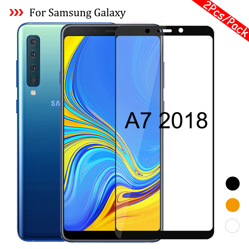 2Pcs/Pack for <font><b>Samsung</b></font> Galaxy A7 2018 A750 SM-A750F Protective <font><b>Glass</b></font> On the Samsun Glaxy <font><b>A</b></font> <font><b>7</b></font> 2018 A72018 Cover Film A72018 Glas image