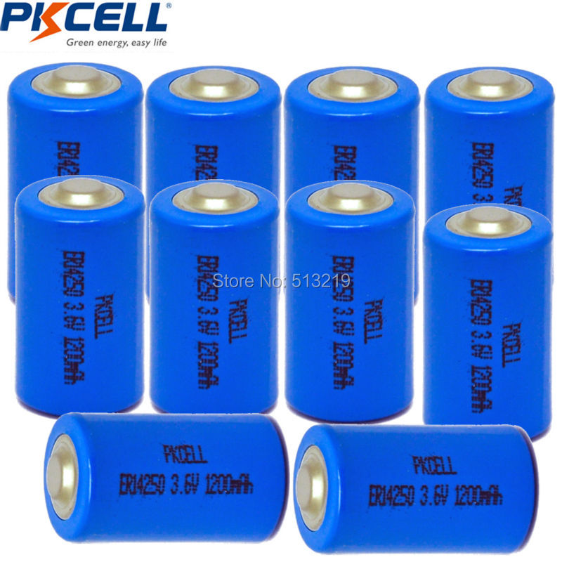 10PCS PKCELL <font><b>1</b></font>/<font><b>2</b></font> <font><b>aa</b></font> <font><b>lithium</b></font> <font><b>battery</b></font> <font><b>3.6v</b></font> ER14250 1200Mah <font><b>1</b></font>/<font><b>2</b></font> <font><b>AA</b></font> LS 14250 <font><b>Batteries</b></font> for electricity meter medical devices image