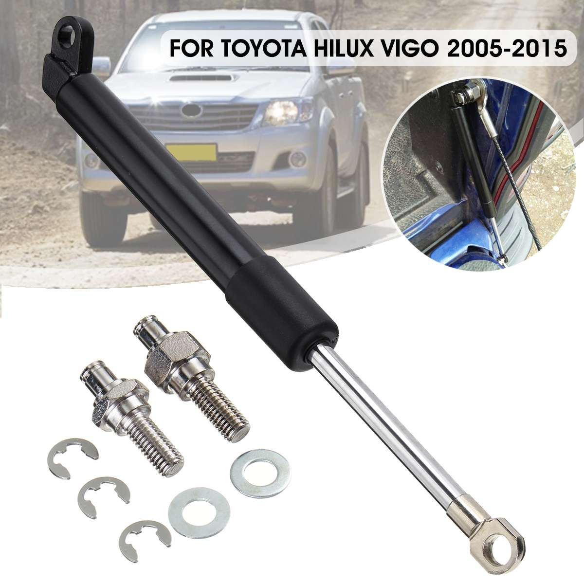 1Set Rear Trunk Tail Lift Supports Gas Strut Rod Arm Shocks Strut Bars Damper For Toyota Hilux Vigo SR5 GGN15R KUN26R 2005-20151Set Rear Trunk Tail Lift Supports Gas Strut Rod Arm Shocks Strut Bars Damper For Toyota Hilux Vigo SR5 GGN15R KUN26R 2005-2015