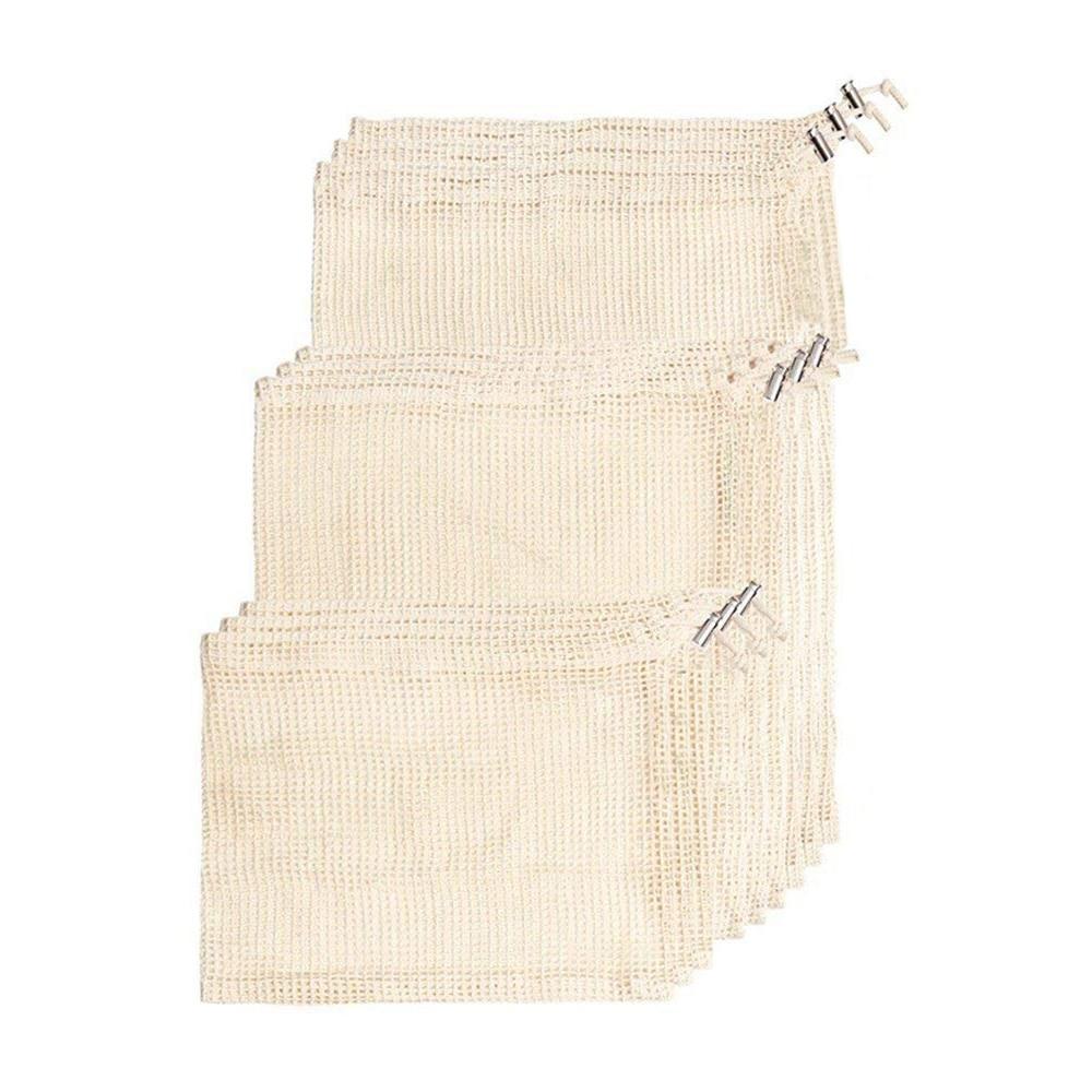 Biodegradable Natural Cotton Reusable Multi-purpose Bags