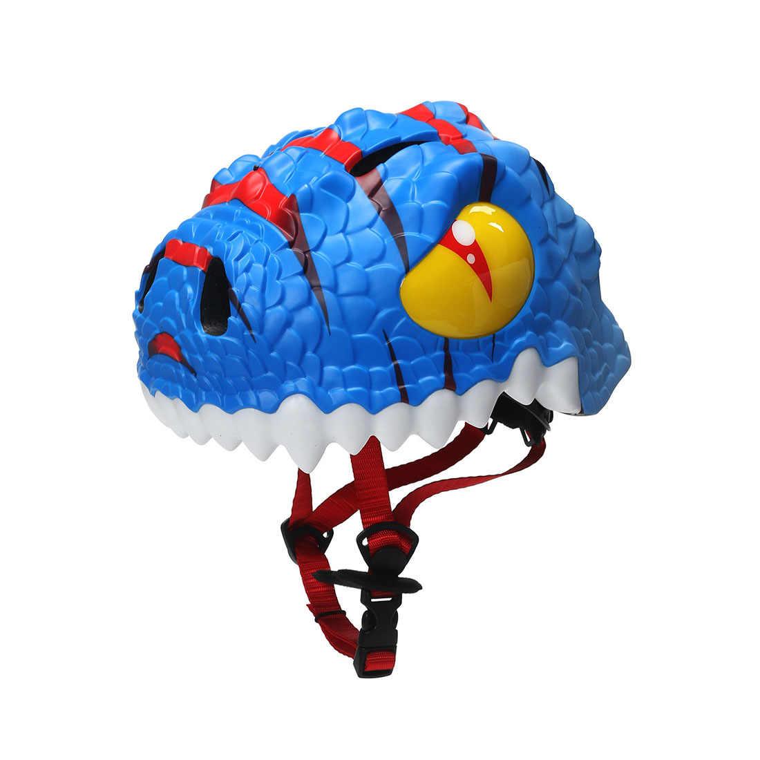 2019 Новый Популярный 3D Динозавр Детский спортивный защитный шлем Регулируемый защитный шлем-синий/черный/красный