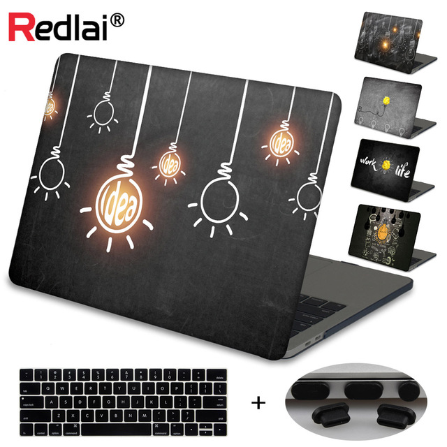Case For Macbook New Pro 13 15 Touch bar A1706 A1707 Innovative Light Bulbs Hard Laptop Case For Mac Book Air Pro Retina 13