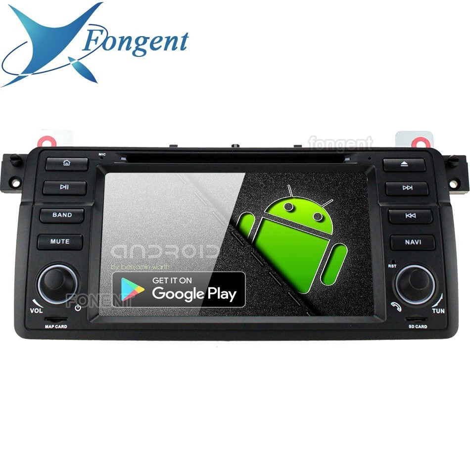 Android 9.0 For BMW 3 Series E46 M3 318i 320i 325i 328i Rover 75 MG ZT Stereo Radio GPS NAVI RK339 PX6 Car 1DIN Audio DVD Player
