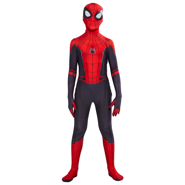 Spider Boy Far From Home Peter Parker Cosplay Costume for kids 2