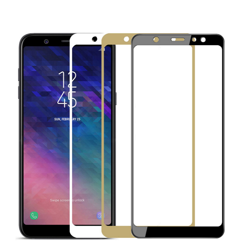 Image 5 - Tempered Glass For Samsung Galaxy A6 2018 A6plus A600F Screen Protector on the For Samsung A6 Plus A6+ A 6 Protective Film Cover-in Phone Screen Protectors from Cellphones & Telecommunications