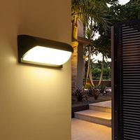 LumiParty Stylish Simple Waterproof LED Wall Lamp Outdoor Indoor Wall Light Yard Fence Stair Street Lights Decoration