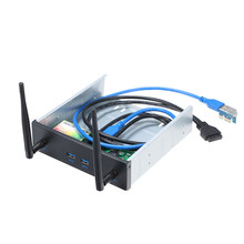 Pre-Drive Wireless Network Card CD-ROM Expansion Mobile Rack with 2 USB 3.0 Ports 600Mbps High Speed Support Dual Band(China)