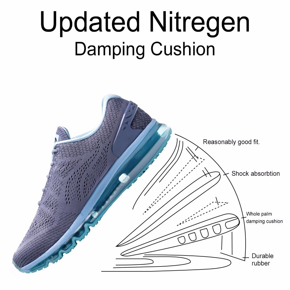 Купить с кэшбэком ONEMIX Summer Men Running Air Shoes Breathable Damping Light Sport Shoes Outdoor Sneaker Zapatos De Hombre Athletic Sneakers