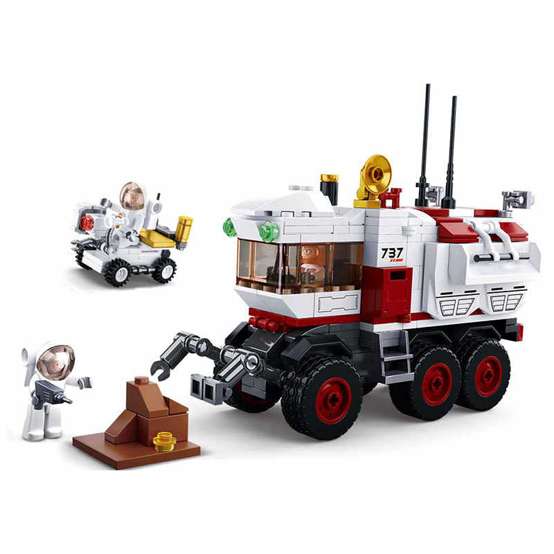 Aviation series Compatible Legoings Mars Rover  Space exploration vehicle building blocks DIY figures Bricks Educational Toy