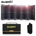 Suaoki 60W chargeur de panneau solaire haute efficacité 18V DC & 5V USB sortie Portable pliable chargeur pour ordinateur Portable alimentation de téléphone