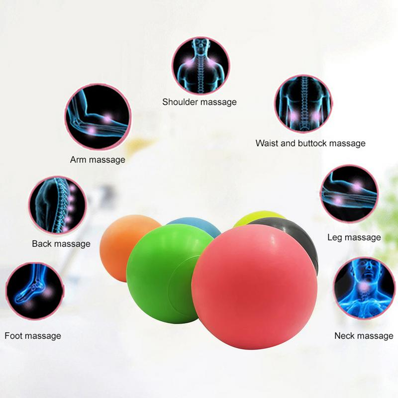 63mm TPE Lacrosse Ball Trigger Point Massage Ball Release Body Massage Yoga Ball Training Fascia Hockey Ball