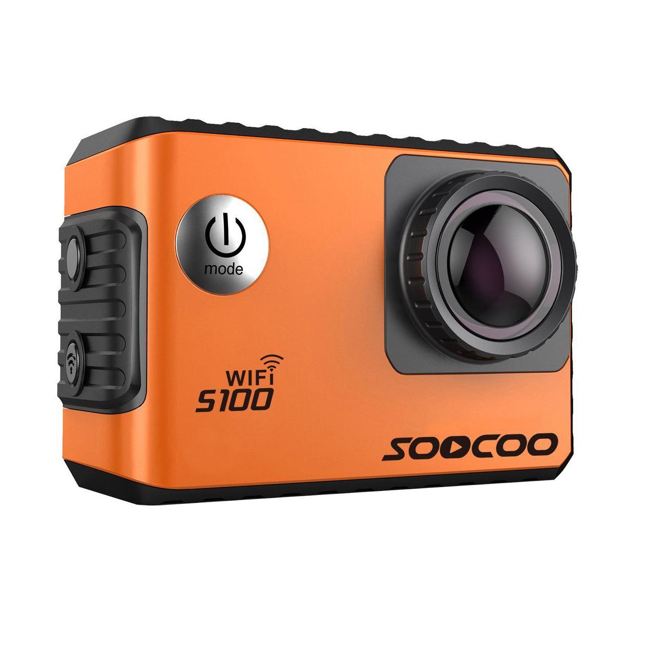 SOOCOO S100 D'action Caméra 4 k Wifi Intégré Gyro GPS Extension Aller Étanche Pro Mini Caméras de Plongée En Plein Air Mini Sport DV