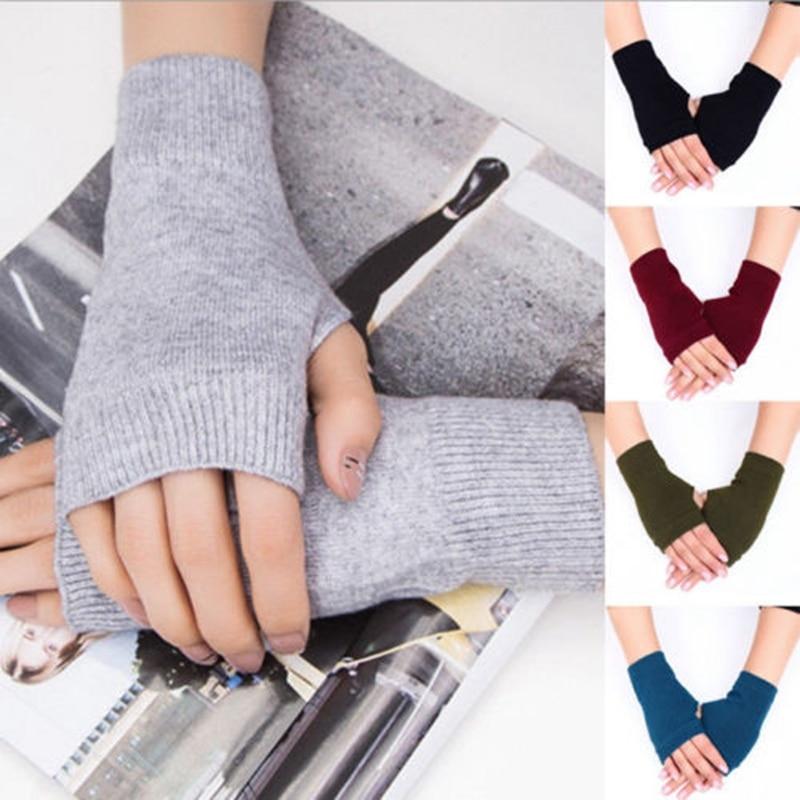 1 Pair Women Cashmere Fingerless Warm Winter Gloves Hand Wrist Warmer
