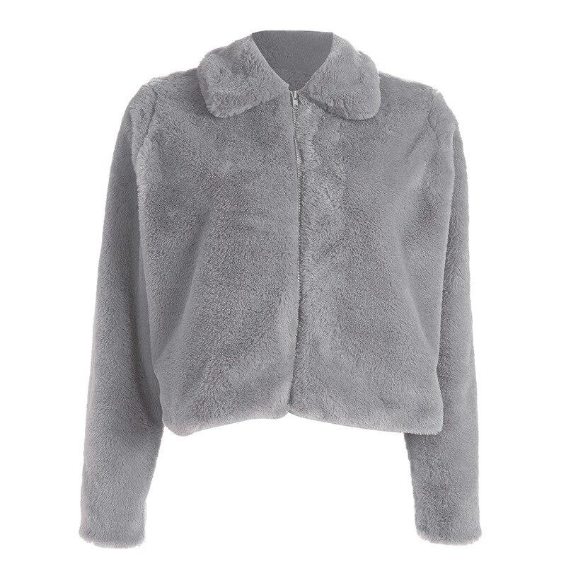 Femmes Manches À Zipper 2018 Gray Oversize D'hiver Style Casual De Manteau Dropship Recadrée Longues Laine Faux Coréenne PSxHXBqpw