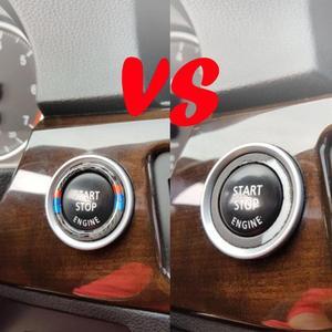 Image 3 - VODOOL 32,5 мм OD углеродное волокно автомобильный двигатель старт стоп кольцо отделка Авто пусковая кнопка украшения для BMW E90 E92 E93