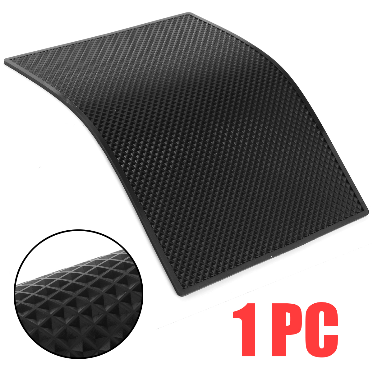 Black PVC Non-slip Smart Phone Mat Holder Reusable Anti-Slip Car SUV Dashboard Sticky Pad Household Table Desk Pad Stand