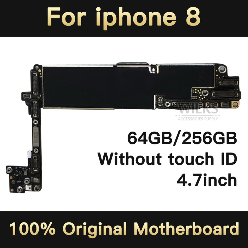 64GB/256GB For Iphone 8 Motherboard Without Touch ID Mainboard For Iphone 8 Original Logic Board Unlock No Fingerprint