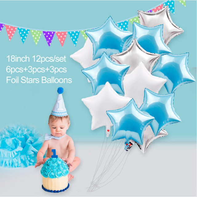 1 years old happy birthday balloons for party Decoration foil balloons Banners tassels Streamers decoration PD 58 in Party DIY Decorations from Home Garden
