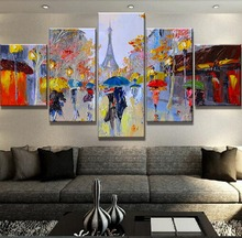 Framework 5 Piece Canvas Art Abstract Tower Cuadros Decoracion Paintings on Wall for Home Decorations Decor