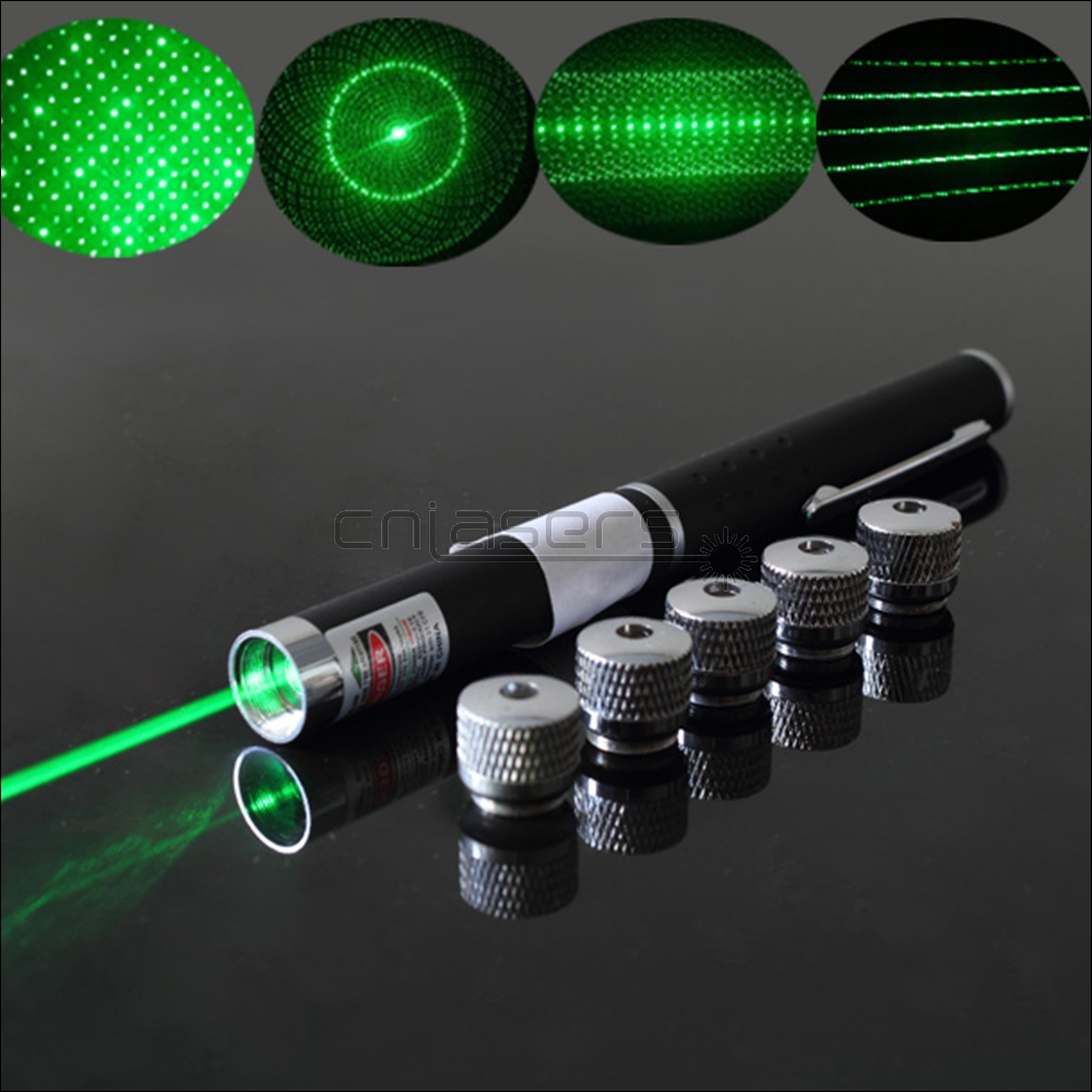 CNILasers P1-F5 Green Laser Pointer Red Lazer Torch Purple Beam Blue violet Laser Pen&5 Star Caps For Cat Catch Teasing Training