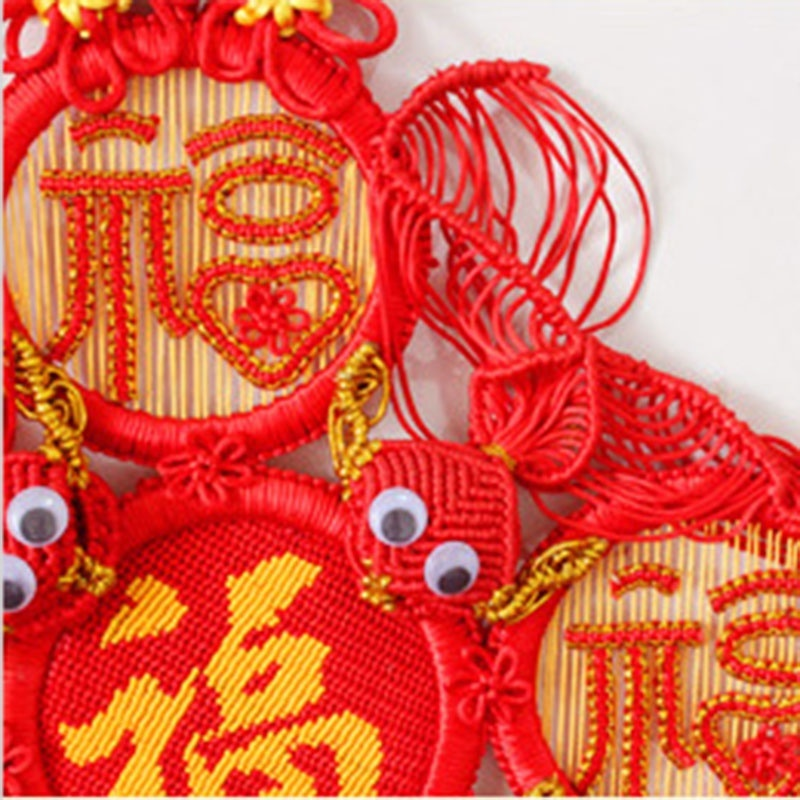 Blessings Chinese Knot Knoting Hand knitted Chinese Knot Pure Handwork Chinese Knot Housewarming Wedding Festival Supplies in Tassel Fringe from Home Garden