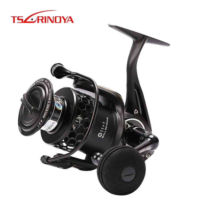TSURINOYA Fishing Reel TSP4000 5000 12BB Max Drag 12kg Spinning Fishing Reel Full Metal Body Saltwater