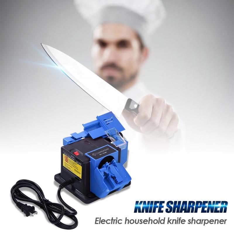 Affûteuse polyvalente pour couteaux forets burins lames de rabot électrique EU/US prise outil électrique burin affûteuse à couteau