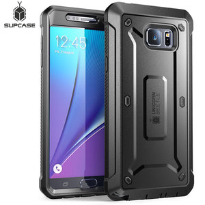 Image 1 - For Galaxy Note 5 Case 5.7 inch SUPCASE UB Pro Full Body Rugged Holster Cover with Built in Screen Protector For Samsung Note 5