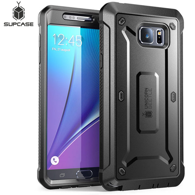 For Galaxy Note 5 Case 5.7 inch SUPCASE UB Pro Full Body Rugged Holster Cover with Built in Screen Protector For Samsung Note 5