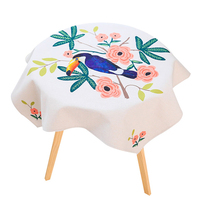 Modern Style Table Cloth Round Table Cover Floral Thicken Tablecloth for Home Party Wedding Decoration
