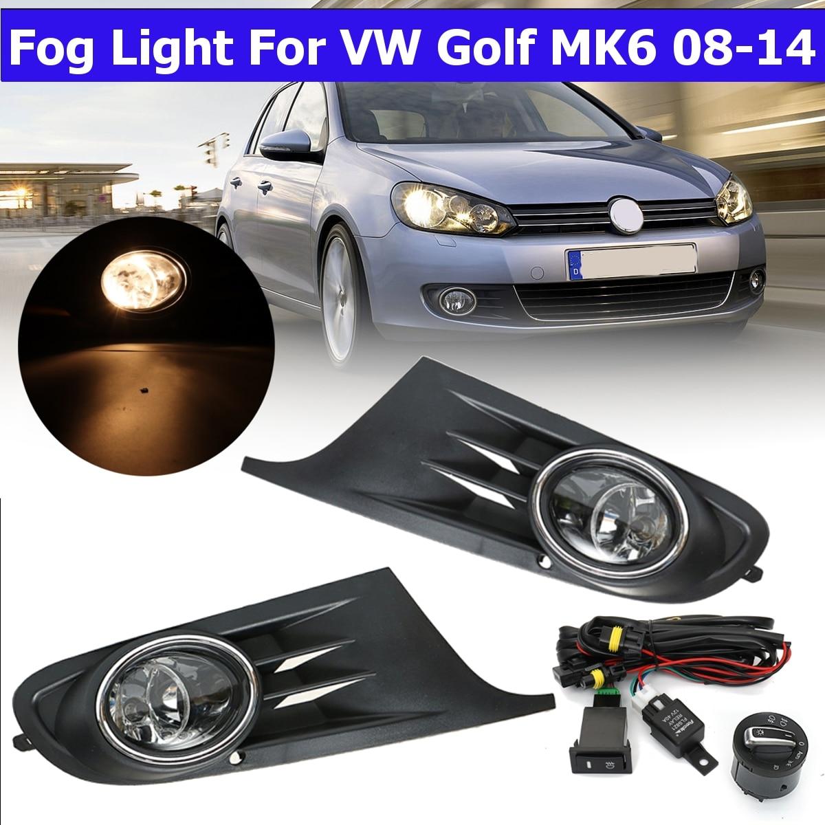 Durable Car Fog Headlight Control Switch Feel Comfortable Kit For VW MK5 MK6