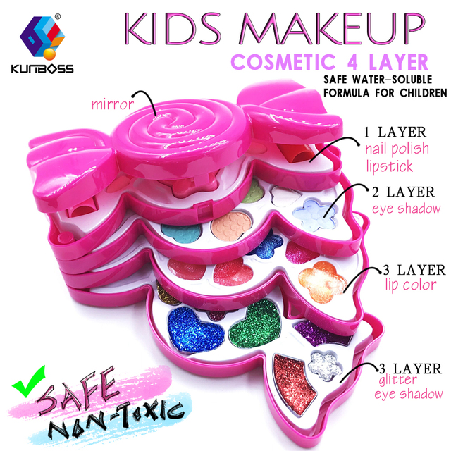 2018 new safety kids makeup cosmetics toys pretend play little