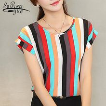 2017 women blouse shirt fashion short-sl