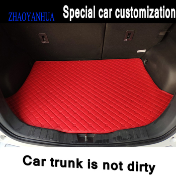 ZHAOYANHUA Custom fit Car Trunk mats for BMW E46 E90 E91 E92 E93 F30 F31 F34 GT car styling carpet image