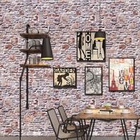 40* 320cm Bedroom 3d brick pattern Waterproof Wallpaper Restaurant Entity Shop self adhesion Pvc Wallpaper for living room