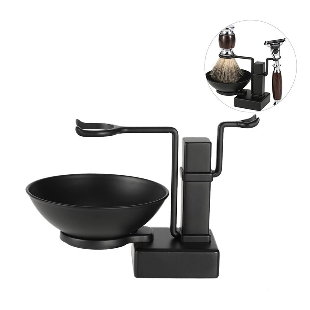 2 In 1 Shaving Stand Holder Set For Shaving Brush Razor Soap Bowl Mug Cup Set For Men Shaving Kit Male Facial Cleaning Tool