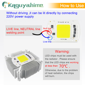 Image 2 - Kaguyahime AC 220V Integrated COB LED Lamp Chip 50W 30W 20W 10W 5W Smart IC Driver For DIY Floodlight Spotlight Projector Grow