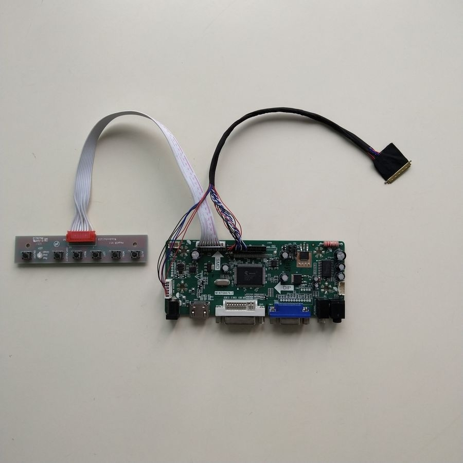 m.nt68676 Controller Driver Board Kit For Ltn156at17-103 Lvds 1366*768 15.6 Inch Laptop Lcd Panel 60hz 40 Pin Wled hdmi+dvi+vga
