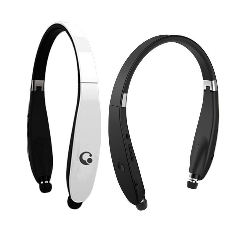 Nouveau casque Bluetooth avec sangle de cou pliant Portable haute qualité sans fil Subwoofer dans l'oreille Sports écouteurs pour téléphone - 5