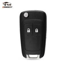 Dandkey 2 Button Flip Car Remote Key Shell Case For Opel Vauxhall Astra Zafira For Chevrolet Cruze Buick Key Cover HU100 Blade