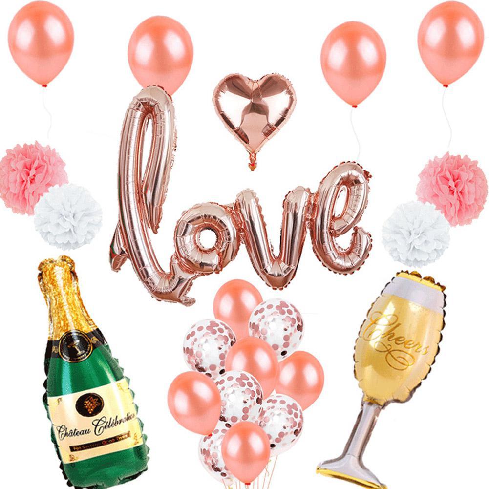 3PCS Beer Bottle Shaped Balloon Aluminium Foil Balloon Wedding Birthday Party