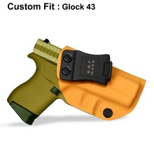 B.B.F Make IWB KYDEX Holster Fit Glock 43 43X Gun Inside Concealed Carry Holsters Coldre Pistol Case Accessories Bag