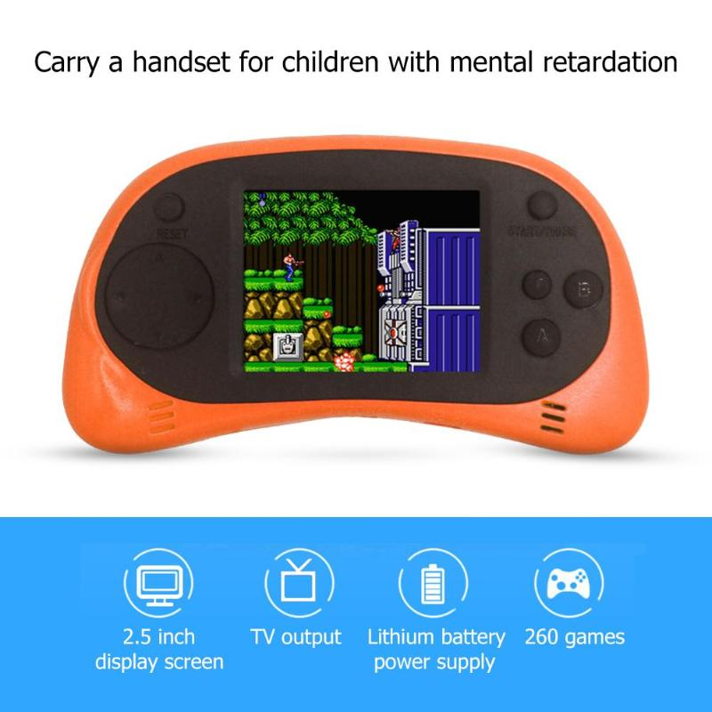 Fashion 2 5 inch 8 Bit RS-8A Retro Mini Video Game Console Portable Handheld Game Player Built-in 260 Different Classic Games