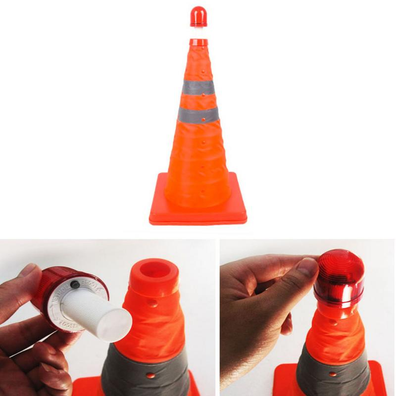 Telescopic Road Cone Car Warning Reflective Cone Emergency Triangle Safety Sign Exit Sign Roadblock Retractable Traffic Cone