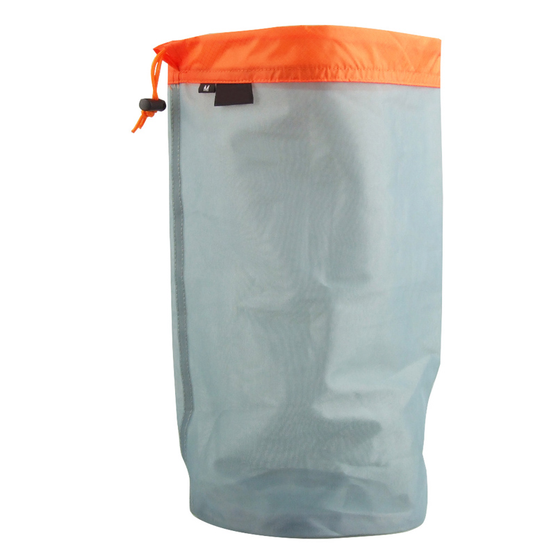 Camping Travel business trip Ultralight Mesh Drawstring Bag Storage Bag