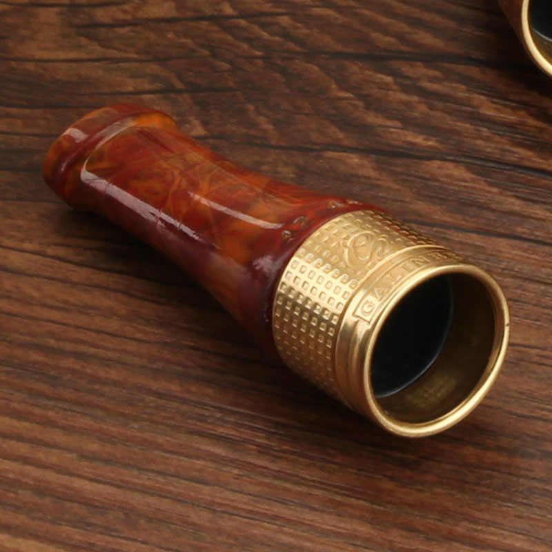 GALINER Gadgets Silver Gold Pureทองแดงเรซิ่นท่อซิการ์ผู้ถือ 4 ขนาดซิการ์ท่อควันหัวฉีดบุหรี่เคล็ดลับ