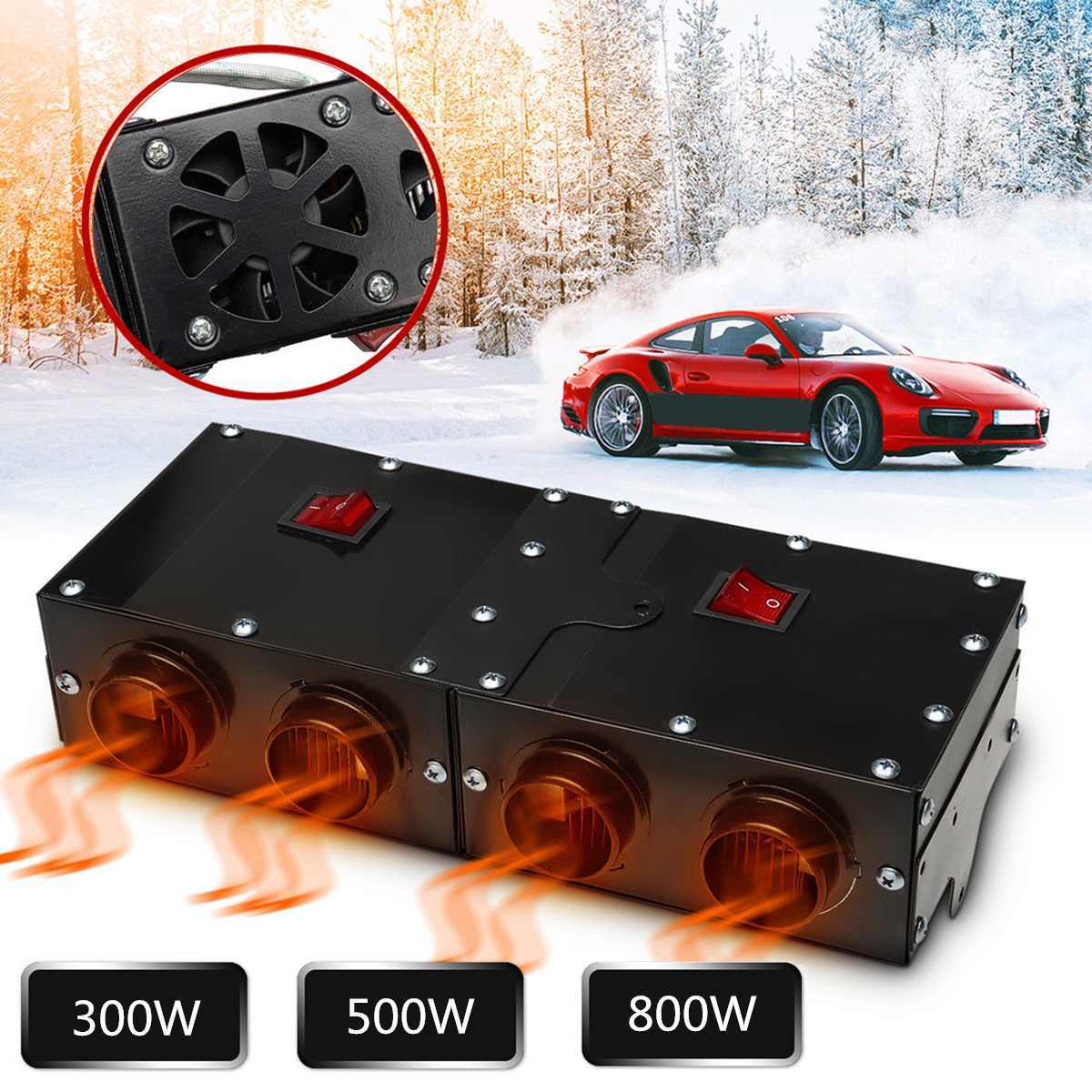 Detail Feedback Questions About Portable Universal Dc 12v 800w Car Vehicle Fan Heater Defroster Electric Heating Windshield