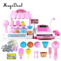 MagiDeal Top Sale 1Set Simulation Ice Cream Store Cash Register for Kids Children Girls Pretend Play Toy Birthday Gift