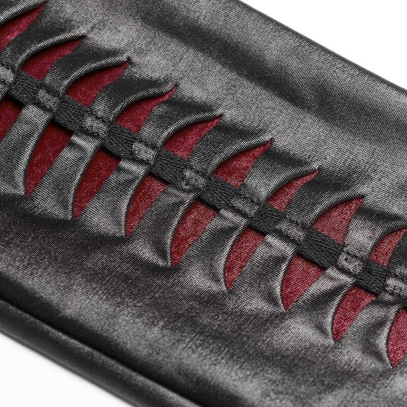 PUNK RAVE New Gothic Devil Footprints Black Women Leggings Fashion Hollow Out Punk Stretchy female Slim Sexy Dark Pants - 6